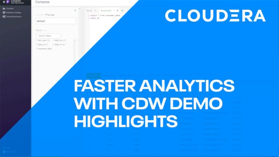 Faster Analytics with CDP Data Warehouse video