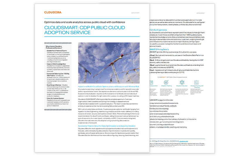 CloudSmart: CDP Public Cloud Adoption Service